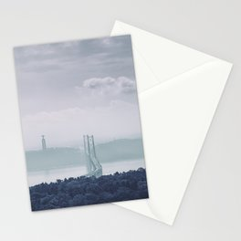 The view from Monsanto. Ponte 25 de Abril. Lisboa, Portugal. Stationery Cards