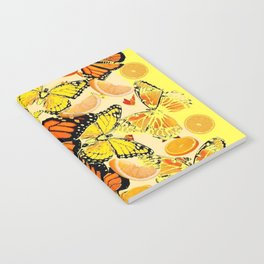 YELLOW MONARCH BUTTERFLY  & ORANGES MARMALADE Notebook