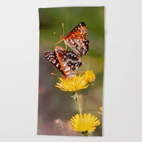 Butterfly Acrobats Beach Towel