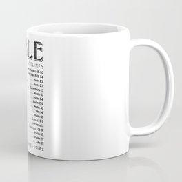 Bible Hotline Emergency Numbers Coffee Mug