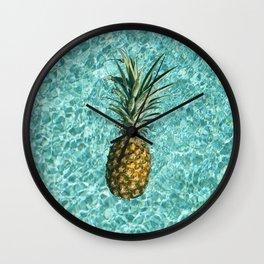 Pineapple Swimming Wall Clock