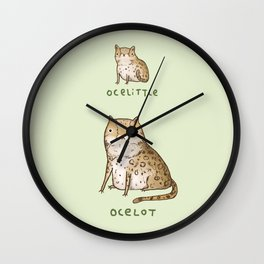 Ocelittle Ocelot Wall Clock