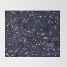 Space Galaxy Throw Blanket