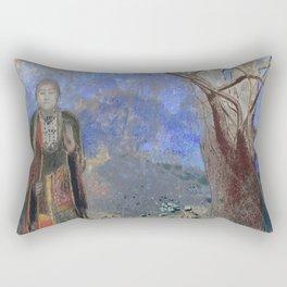 Odilon Redon - Buddah Rectangular Pillow