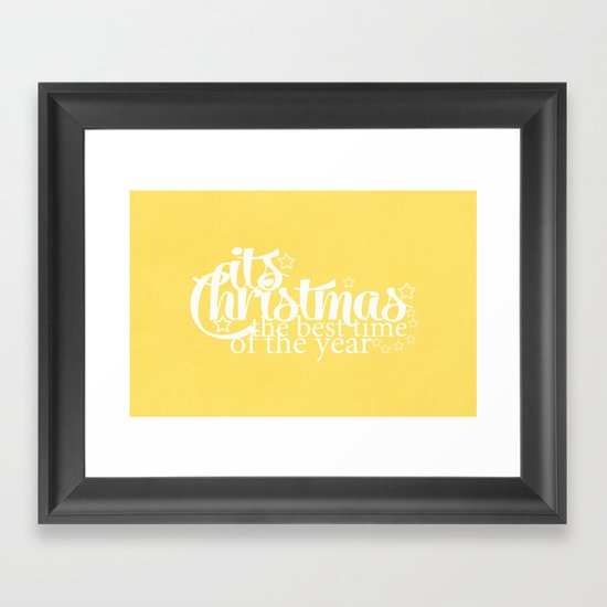 Its Christmas {Gold} Framed Art Print