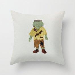 Trick or Treat Halloween Toddler Frankenstein Monster Throw Pillow