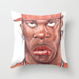 Busta Rhymes Caricature Throw Pillow