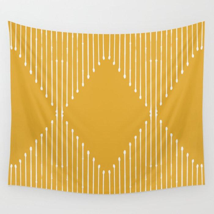 Geo / Yellow Wall Tapestry