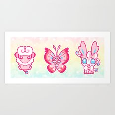 PINKIE POKES Art Print
