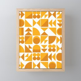 Mid Century Shape Art in Mustard Yellow Framed Mini Art Print