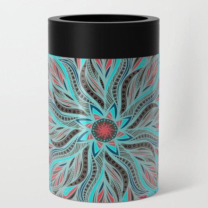 Mandala Flower Can Cooler