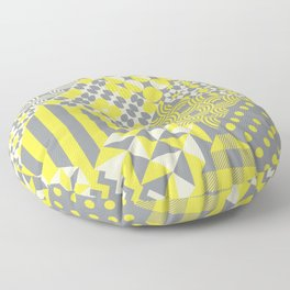 Quilt patterns Illuminating Yellow, Ultimate Gray Floor Pillow