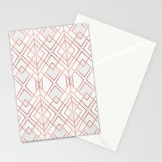 Geo Rose Gold Stationery Cards