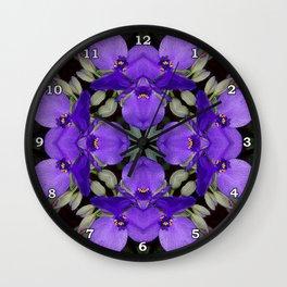 Summer blue mandala - Spiderwort (Tradescantia) 9146 k14 Wall Clock