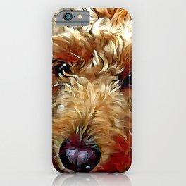 Goldendoodle Puppy iPhone Case