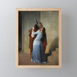 The Kiss (Il Bacio) - Francesco Hayez 1859 Framed Mini Art Print