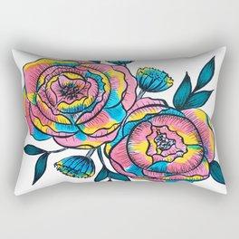 technicolor roses Rectangular Pillow