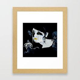 Dark Cupid Framed Art Print