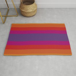 Stripe In Warm Color Rug