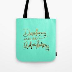 Darling Let's Be Adventurers Tote Bag