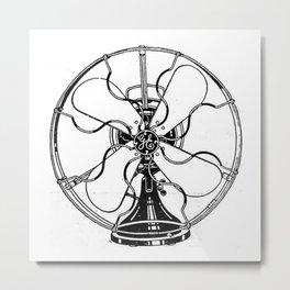 Fan Metal Print