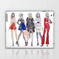 Fashion girls. fashion illustration Laptop & iPad Skin