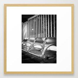 Shiny Seats Framed Art Print