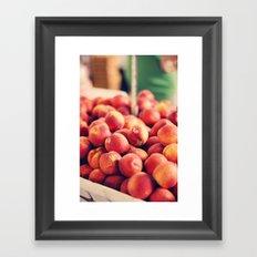 Each peach, pear, plum Framed Art Print