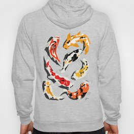 Colorful Koi Carps Swimming Around Hoody