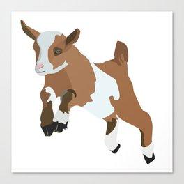 Baesic Prancing Goat (Brown) Canvas Print
