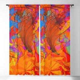 Orange scallop Blackout Curtain