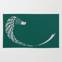 minimalist Area & Throw Rugs featuring Minimalist Pheasant by Fernando Vieira