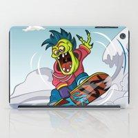 snowboarding iPad Cases featuring Snowboarding by Brain Drain Fox