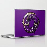 doughnut Laptop & iPad Skins featuring Hurtz Doughnut by Jonah Makes Artstuff
