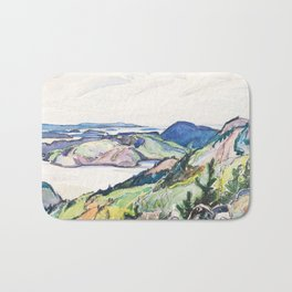 Franklin Carmichael - Lake La Cloche Region - Canada, Canadian Watercolor Painting - Group of Seven Bath Mat