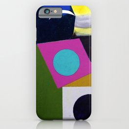 African American Masterpiece 'Joyful Abstraction' abstract landscape painting by E.J. Martin iPhone Case