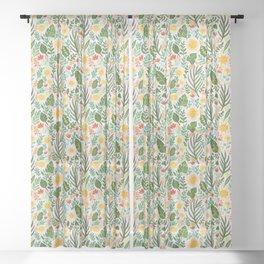 Sunshine Botanical - Blush Version Sheer Curtain