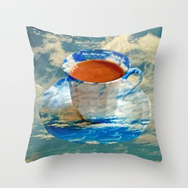CUP OF CLOUDS Throw Pillow