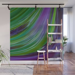 Purple Green Contemporary Abstract Wall Mural