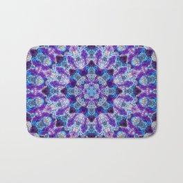 Luminous Crystal Flower Mandala Bath Mat