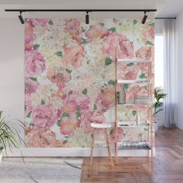 Flowers, Floral Explosion, Floral Pattern, Pink Flowers Wall Mural