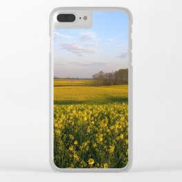 Blooming in yellow 4 Clear iPhone Case