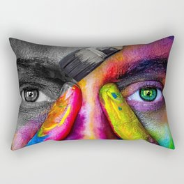 A World with Color Rectangular Pillow