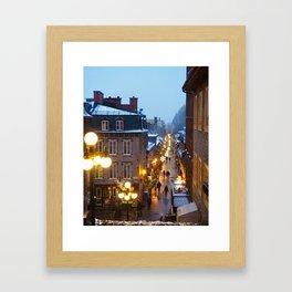 Quebec City Winter Framed Art Print
