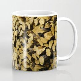 Wood Pile Painterly Coffee Mug