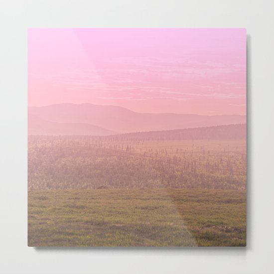 Pink Landscape - #society6 #buyart Metal Print