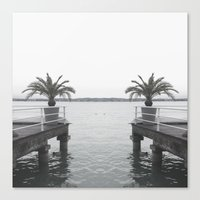 palm Canvas Prints featuring Palm by Sarah Friend