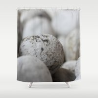 stone Shower Curtains featuring Stone by Fine2art