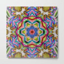 petal passion star mandala Metal Print