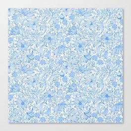 Bells Flower - BUTTERFLIES - CAMPANULA BLUE Canvas Print